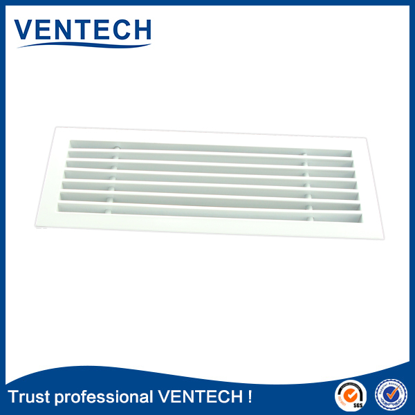 High quality hvac linear diffuser aluminum supply air linear slot grille with damper