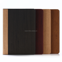 Nature wood grain PU card bumper/pocket cell phone case for Ipad
