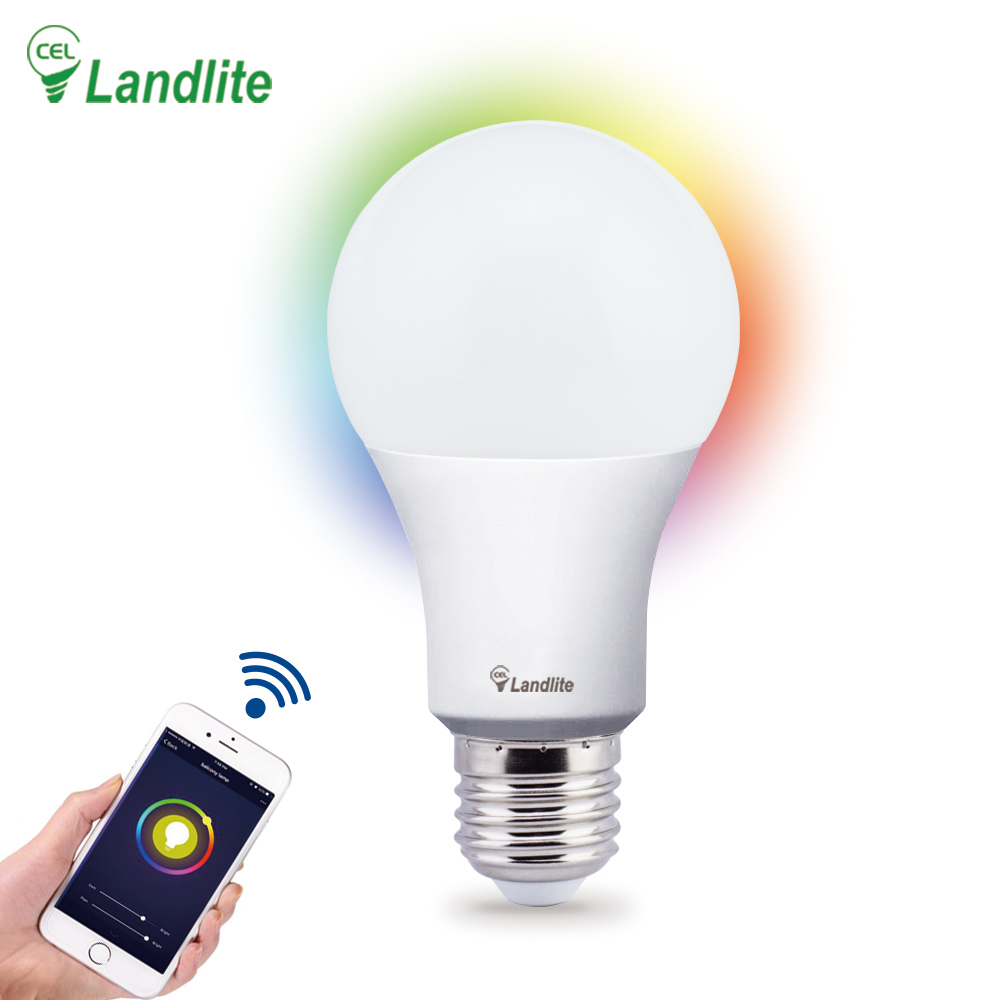 New Product Saving Energy-Lamp RGB+CCT Color Controller Smart Led Bulb Light Wifi Work with Alexa Google Assistant