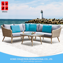 Cheap And Simple Design Outdoor Rattan Garden Furniture 5 Seater Sofa Set Modern