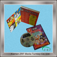 Colorful Printed Cartoon DVD Case Packaging Service