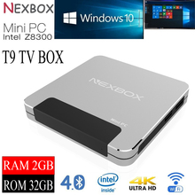 Intel Z8300 NEXBOX T9 With 4K H.265 Mini PC Internet Decoder Live TV Box
