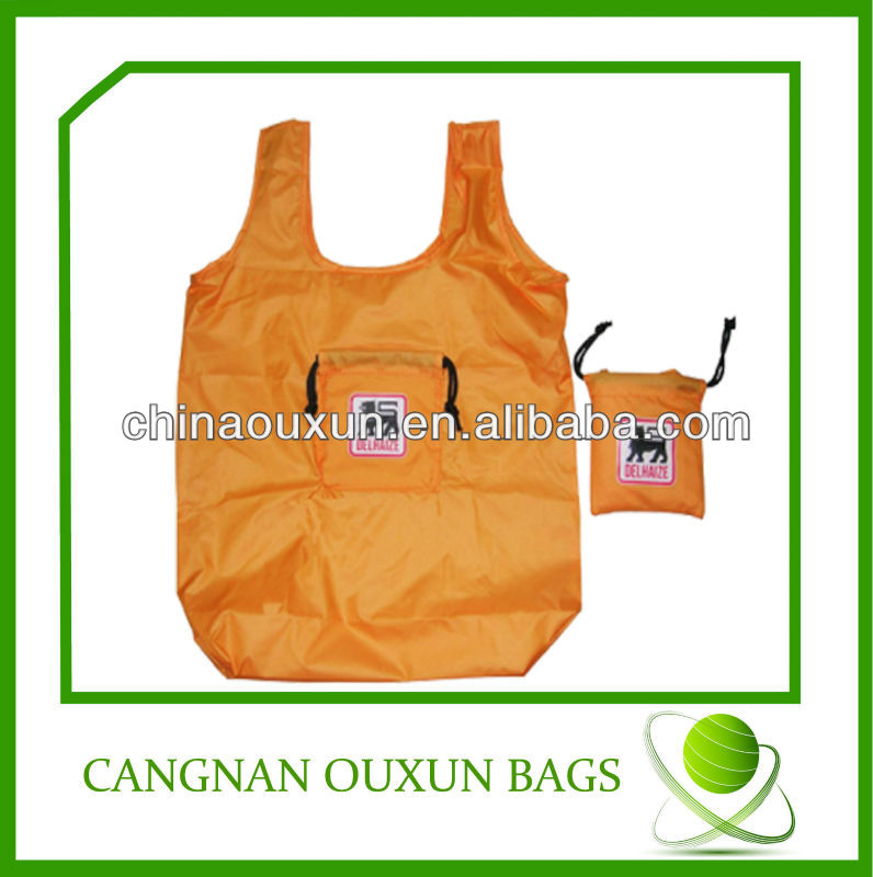 Hottest folding nylon bag,nylon tote bag, nylon foldable shopping bag