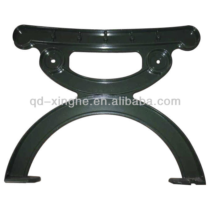 Custom backless cast iron park benches for outdoor furniture bench leg