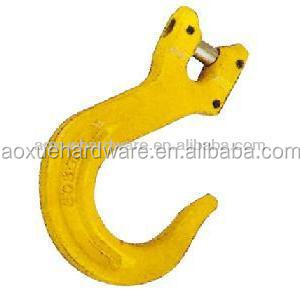 hardware rigging galvanized carbon steel / alloy steel forged clevis foundry hook