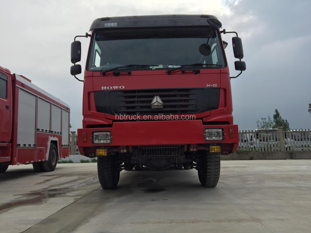 4*4 HOWO fire truck,Right steering wheel