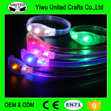 High quality flashing gift motion sensor led silicon wristbands bracelets