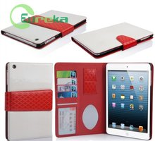 Hot selling flip wallet tablet leather cell phone cover for IPad mini