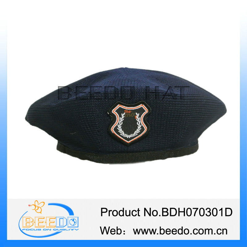 Promotional cheap girs/womens beret with white lining