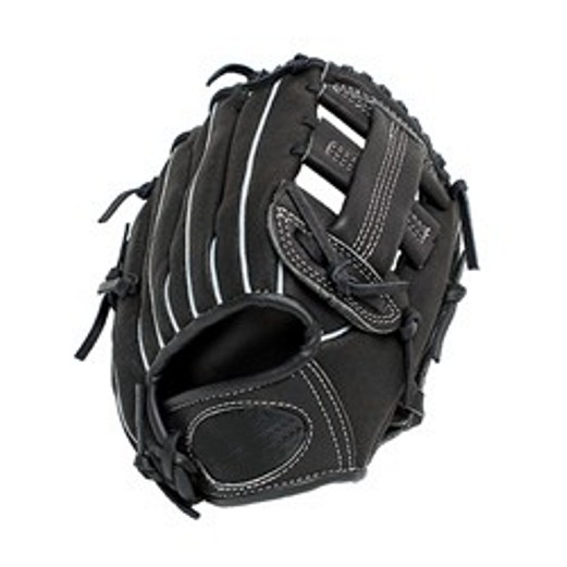 Black Kip leather hand made Baseball glove / 100% Genuine leather