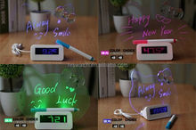 LED message board digital alarm clock hello kitty for christmas gift