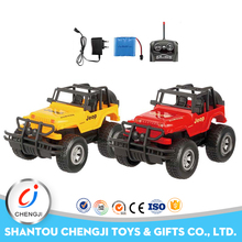 Hot selling new 1:14 four channel jeep toys remote control car with light