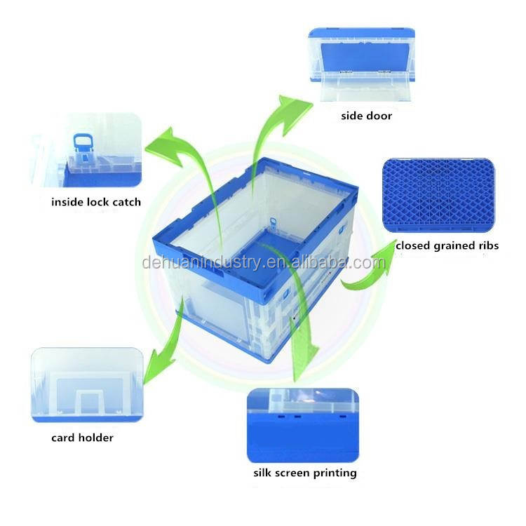 Eco-friendly / Food Grade Folding 10kg PP Plastic Storage Containers