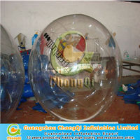 clear 0.8mm TPU/PVC inflatable water running ball