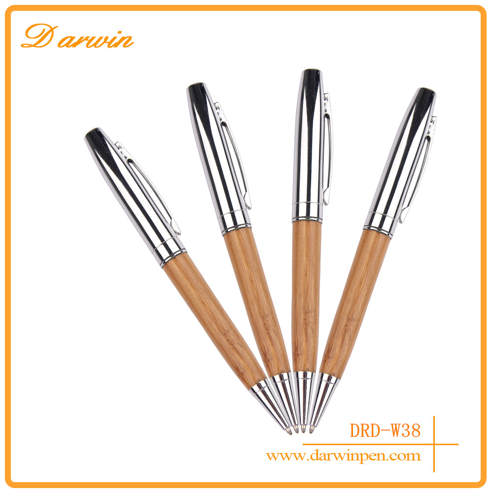 Wholesale Promotional Gift Novelty High Quality Cheap Personalized Black Ink Ball Point Pen For Wood