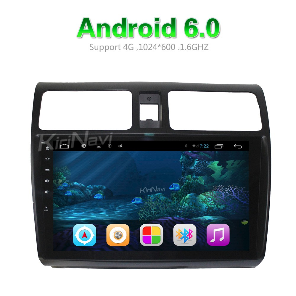 "Kirinavi WC-SS1004 10.2"" andriod 6.0 car audio for suzuki swift touch screen car stereo 2004 - 2010 touch screen"