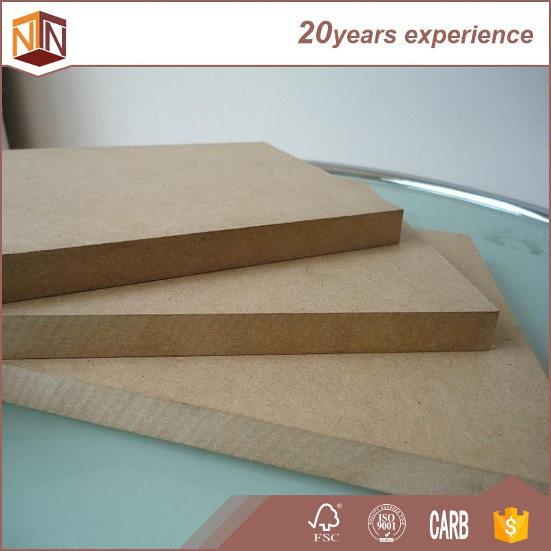Types of Waterproof MDF Medium Density Fiberboard