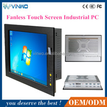 15'' Embedded Fanless 5*USB 4*COM Touch Screen Industrial Computer / Industrial System PC