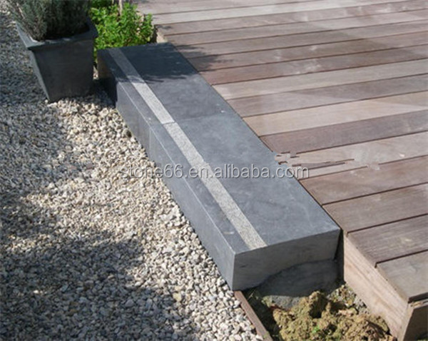 factory supply Chinese blue limestone honed and tumbled slabs 100x100x3cm