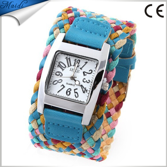 Fashion Casual Ladies Watches Braided Bracelet Leather Strap Wristwatches Korean Rope Women Dress Watches Quartz Clocks LW007