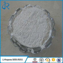 Lithopone 28% 30% Zinc sulfide white ZnS B301 & B311 rubberlith CAS 1345-05-7