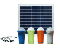 10W solar lighting system portable solar lantern with 4 LED lamps for indoor and camping