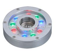 Multi-controlled 27*1W RGB LED POOL LIGHTING