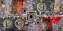Hang Over Abstract Printing Canvas Can Print By Customer's Picture 65073 A