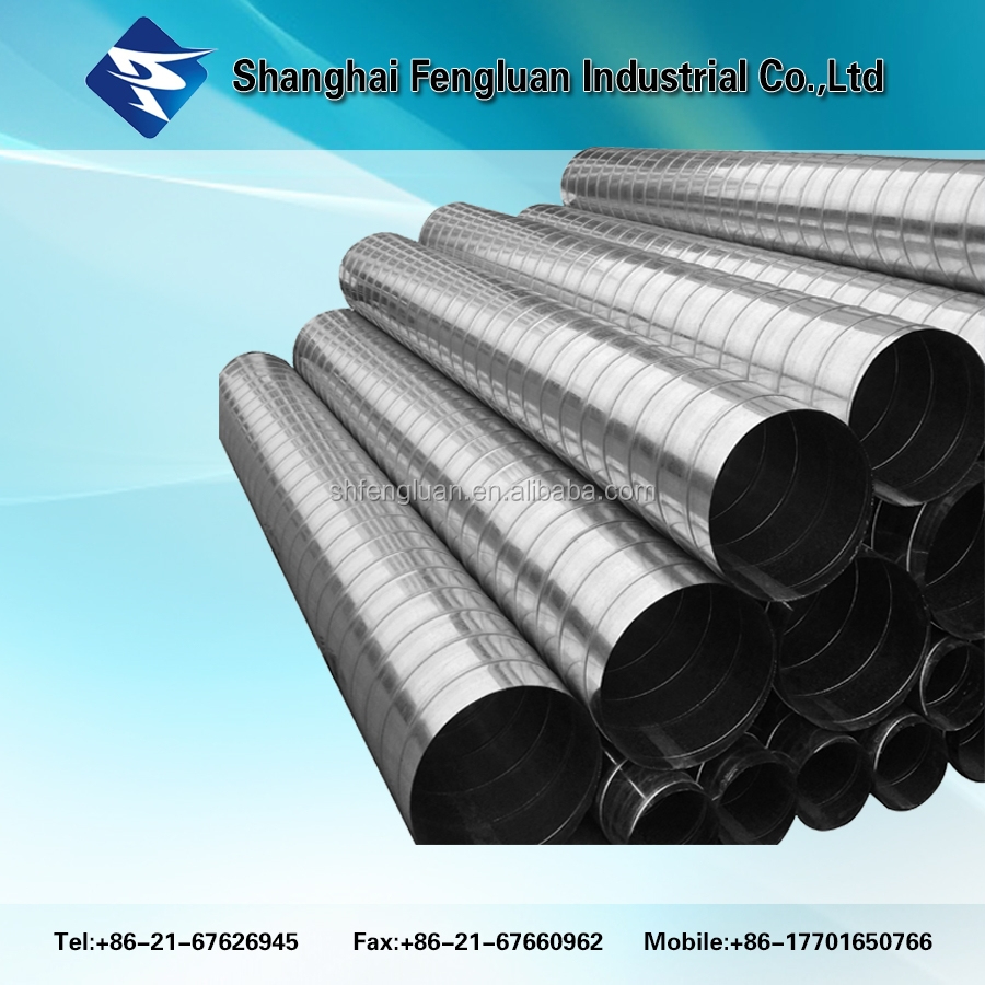 High quality galvanized spiral duct for heating