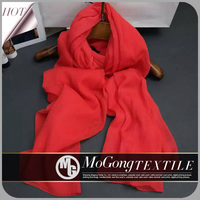 Classical Plain pure color long printed chiffon scarf wraps