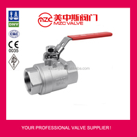 2PC Ball Valves Threaded Ends 1000WOG with Lockable Handle Stainless Steel Ball Valves