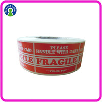 Adhesive Print Logo Fragile Label,Custom Shape Paper Stickers