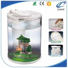 Mini Transparent Round Plastic Wall Hanging Decorative Aquarium Fish Tank