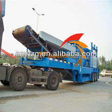 CE high efficiency stone mobile crusher station CE mini mobile stone crusher machinery mobile screenig plant