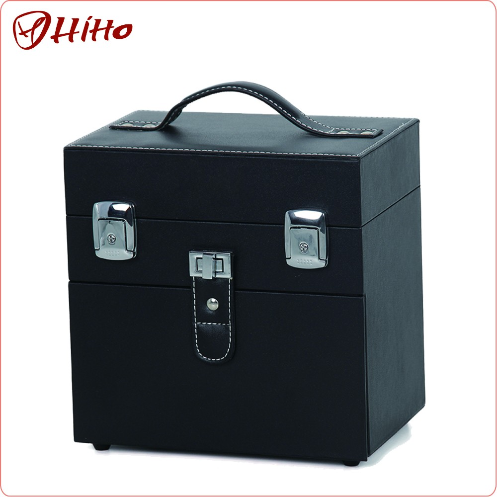 Professional leather Makeup Case Cosmetic Suitcase factory price