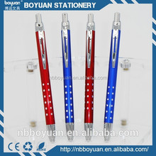 China popular hot sale promotional metal glitter click ballpoint pen