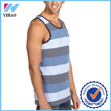 Yihao Alibaba Trade Assurance Premium Spandex/Cotton Plain Fitness Men Gym Stringer Vest/Custom Mens Tank Top