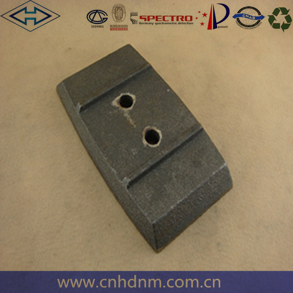hi-chrome mixer mixing paddles asphalt mixed leaves for sany mixer wear-resisting alloy fittings