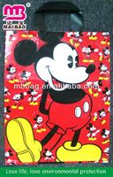 Happy mickey mouse gift bag with handle for shopping custom made in china
