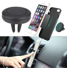 Custom logo car silicone air frame mid air vent cell mobile phone finger clip grip stand magnetic mount holder for iphone
