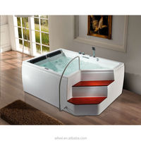 White acrylic bath heart shaped bathtub