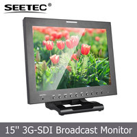 15 inch image flip lcd tft display hd sdi 1080p monitor with Peaking Focus Assist Camera 5D II Mode V Battery Plate