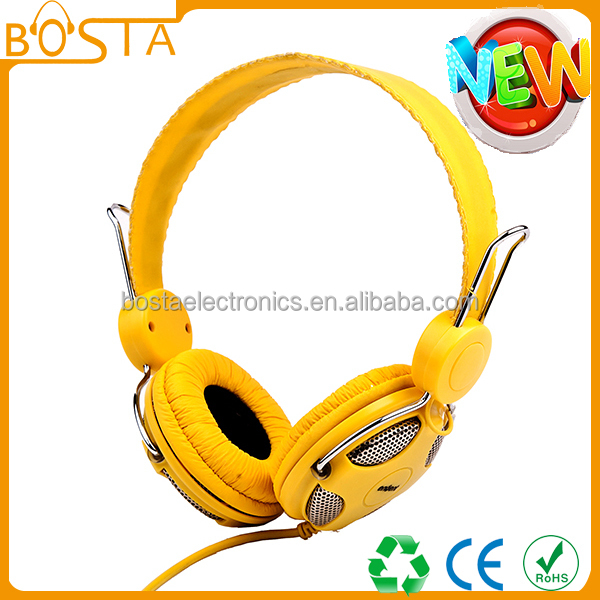 hot selling headphones wired headphones with microphone durable children headphone H040