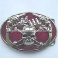 41mm R-0434-8 Fashion wholesale customized cowboy skull gun buckle with high quality