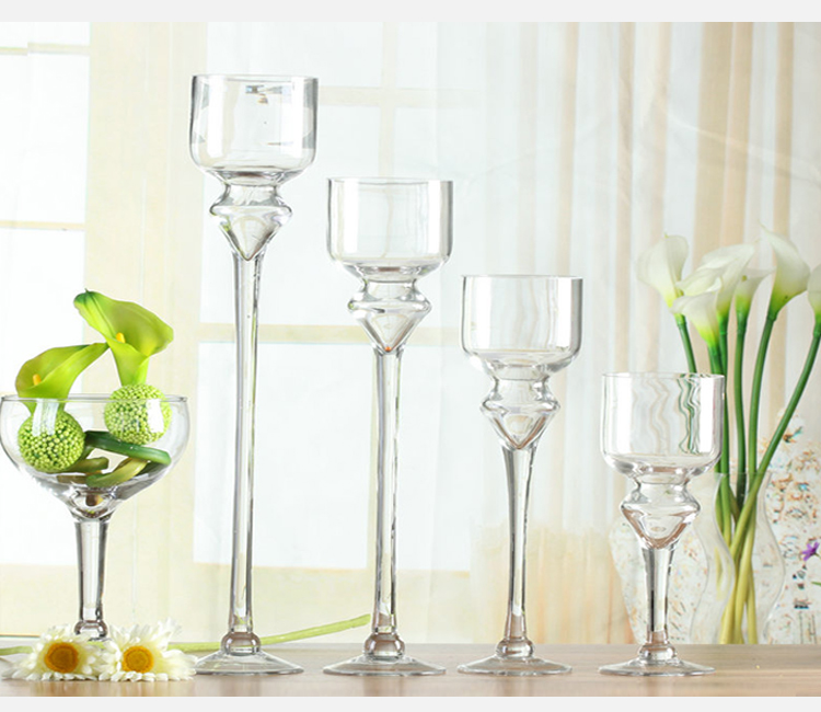 Cheap tall clear glass candle holder for wholesale view for Cheap tall candlestick holders
