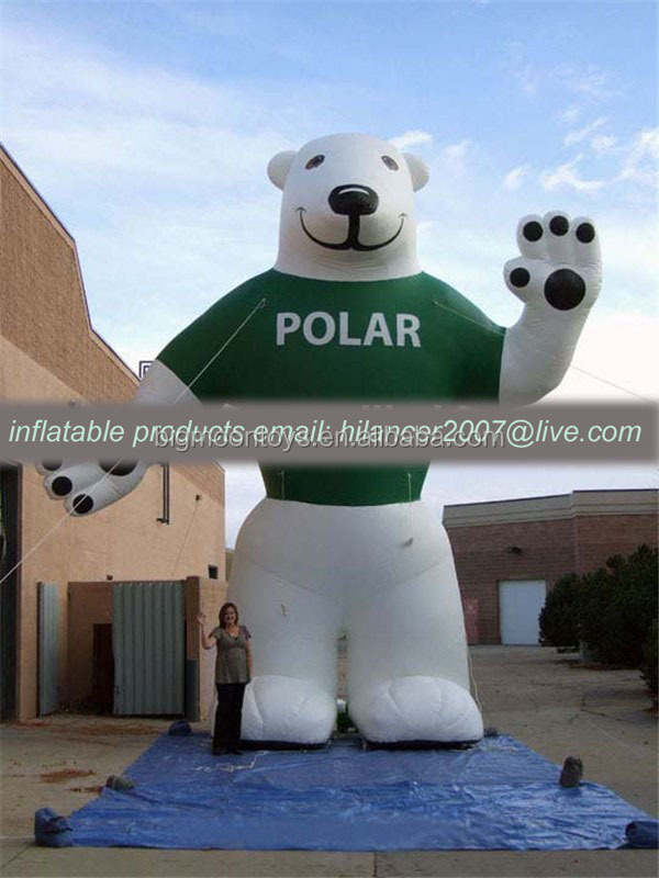 giant outdoor advertising inflatable big bear man for sale
