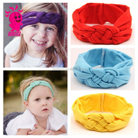 The Latest Toddler Soft Headwear Baby Dot Cross Knot Hairbands Turban Knit Knot Headbands