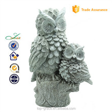 Nature Resin Carving Owl Animal Statue Sculpture