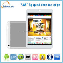 mtk8389 7.85 inch android tablet pc wifi 3g phone calling gps built in