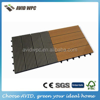 Easy installing home depot Eco-friendly and duarble interlocking outdoor flooring/wpc decking tile for sale